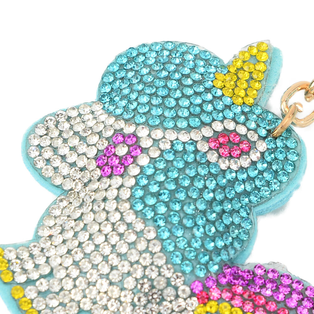 キーホルダー バッグチャーム レディース ユニコーン 一角獣 キラキラ 可愛い 水色 紫 プレゼント Z