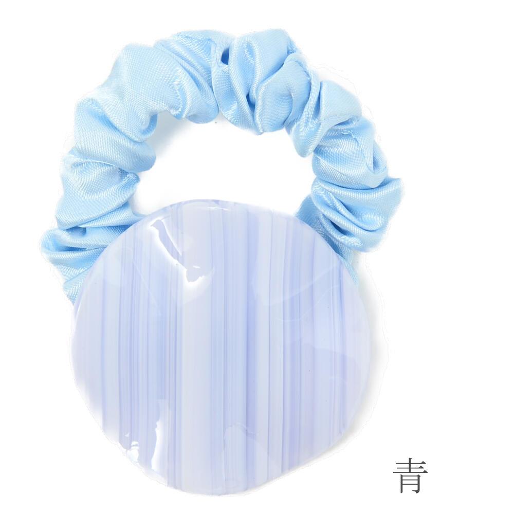 ヘアゴム ヘアアクセサリー レディース ヘアアクセ ボーター ベージュ 青 ヘアアレンジ まとめ髪 H