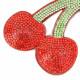 キーホルダー バッグチャーム レディース さくらんぼ サクランボ 果物 キラキラ 赤 プレゼント Z