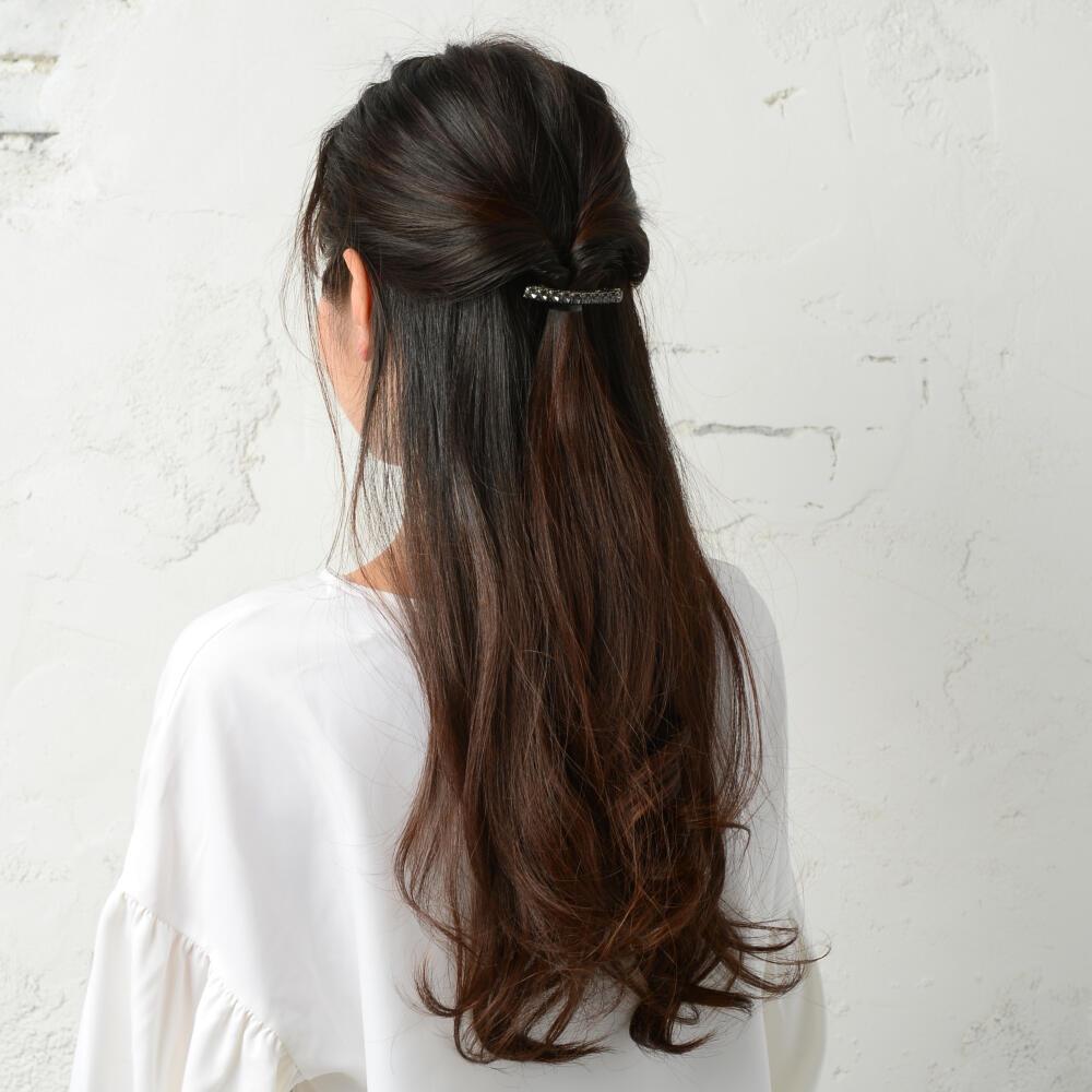 バレッタ ヘアアクセサリー レディース ヘアアクセ ビジュー キラキラ ヘアアレンジ まとめ髪 H