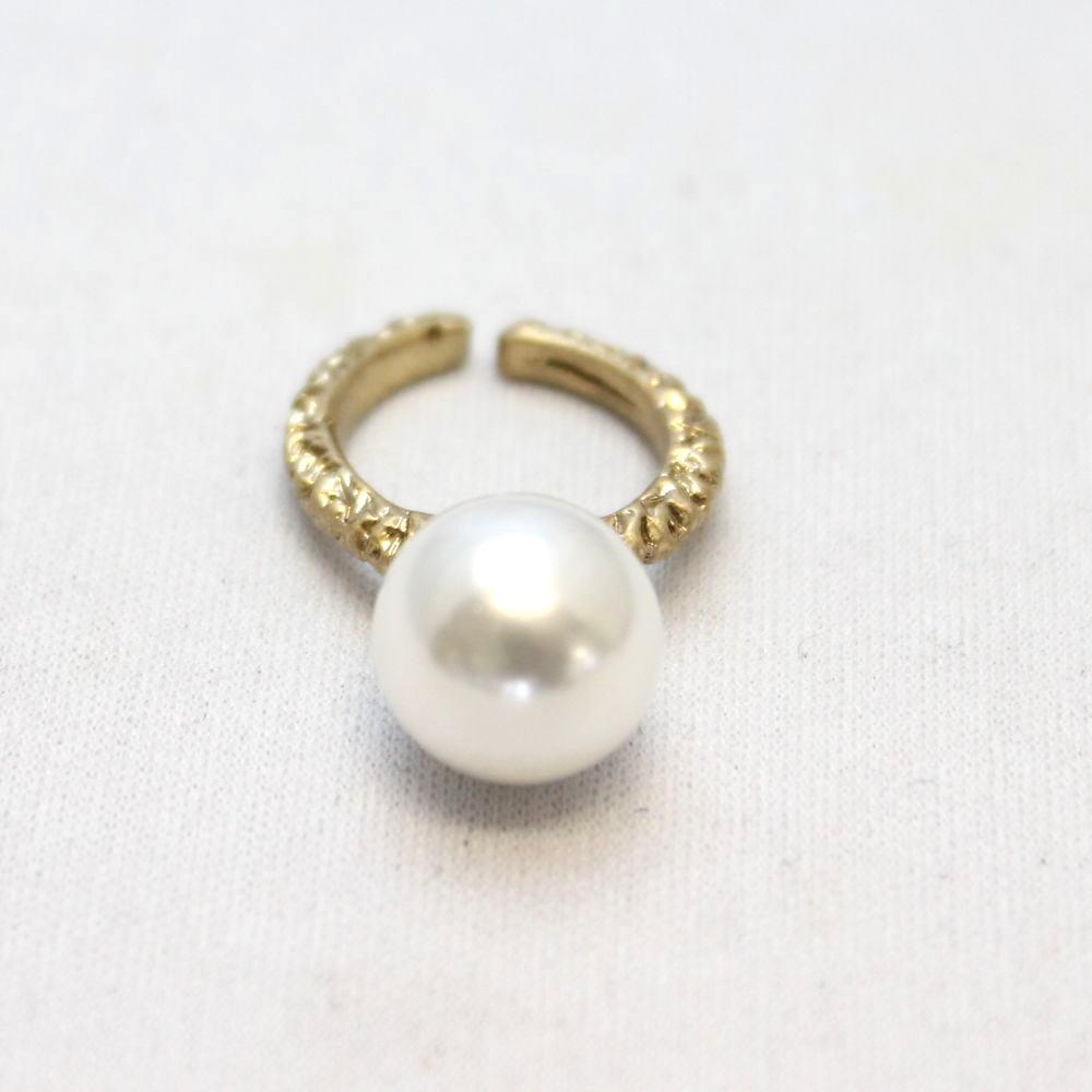 イタリア パールとメタルのデザインリング 指輪 スタジオジー