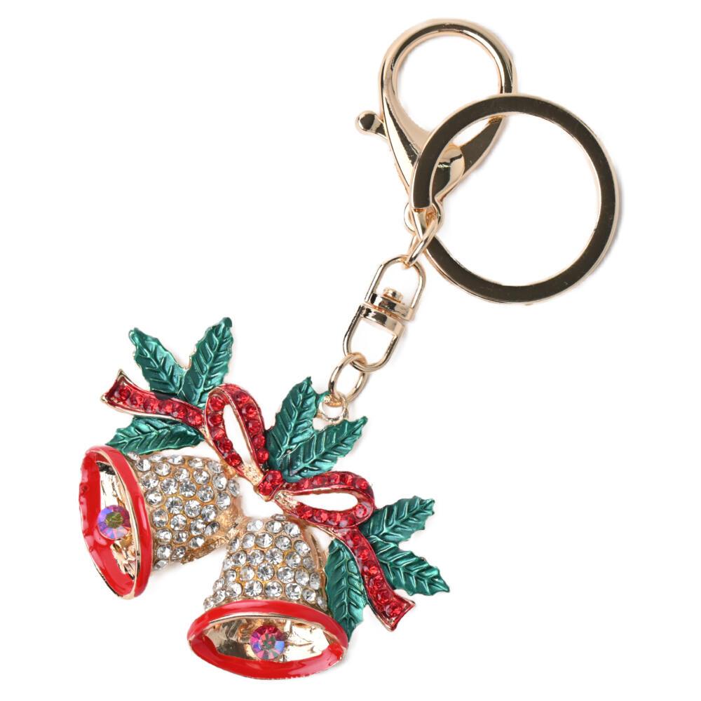 キーホルダー バッグチャーム クリスマス レディース ベル リボン 柊 ヒイラギ 冬 プレゼント Z