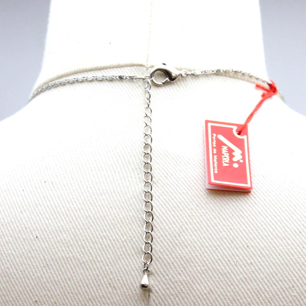 スペイン マジョルカパールのグラデーションネックレス 2色 マジョリカパール