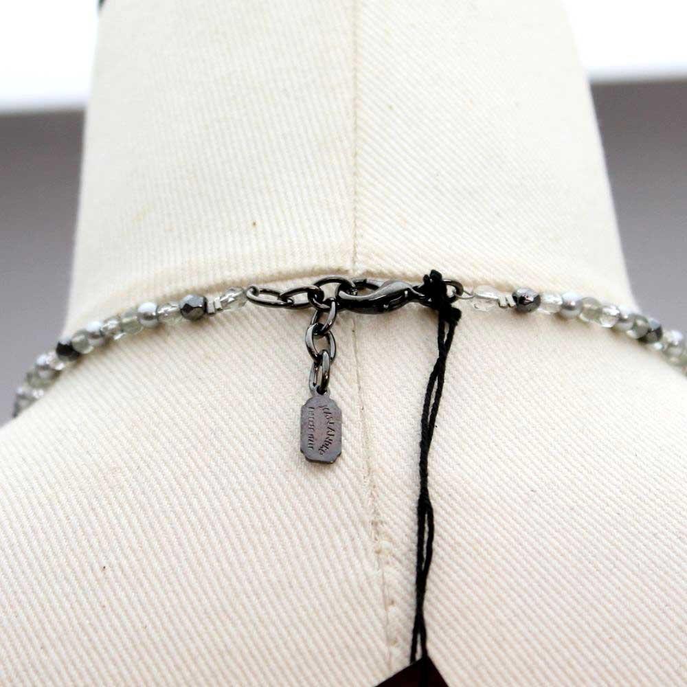 イタリア グレーパールのデザイントップネックレス