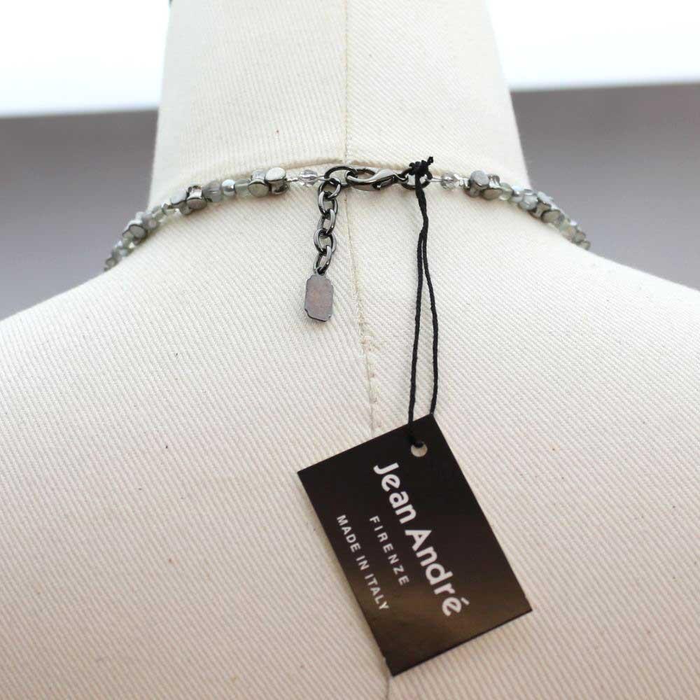 イタリア グレーパールのデザインネックレス