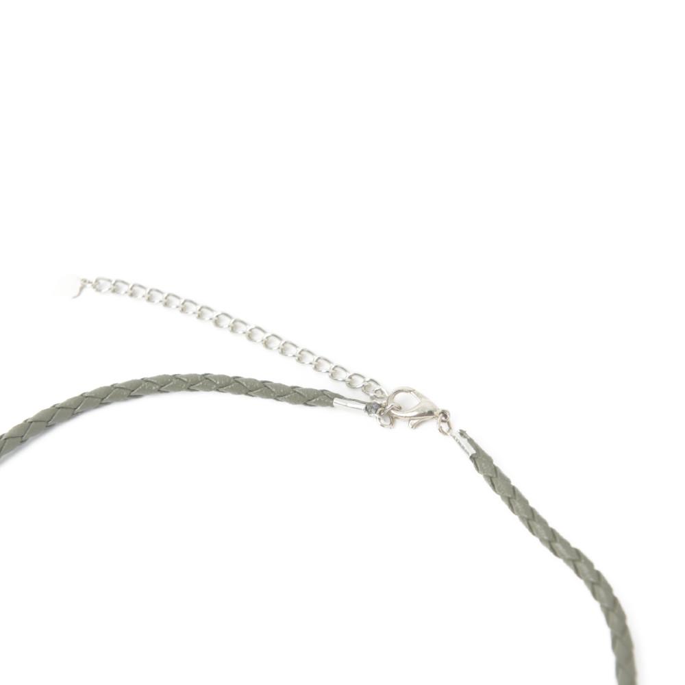 ベネチアングラスネックレス ベネチアンガラス ネックレス 銀箔 緑 紫 イタリア製 ムラーノガラス I