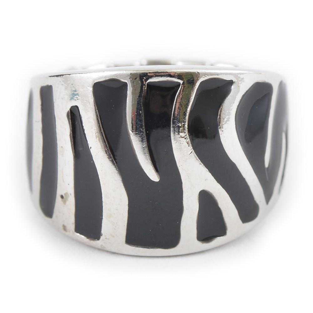 ゼブラ柄ストレッチリング 指輪