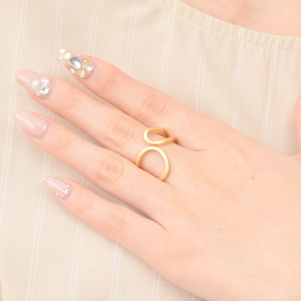 指輪 レディース リング メタル 艶消し マット加工 ゴールド シルバー 幅広 大ぶり N