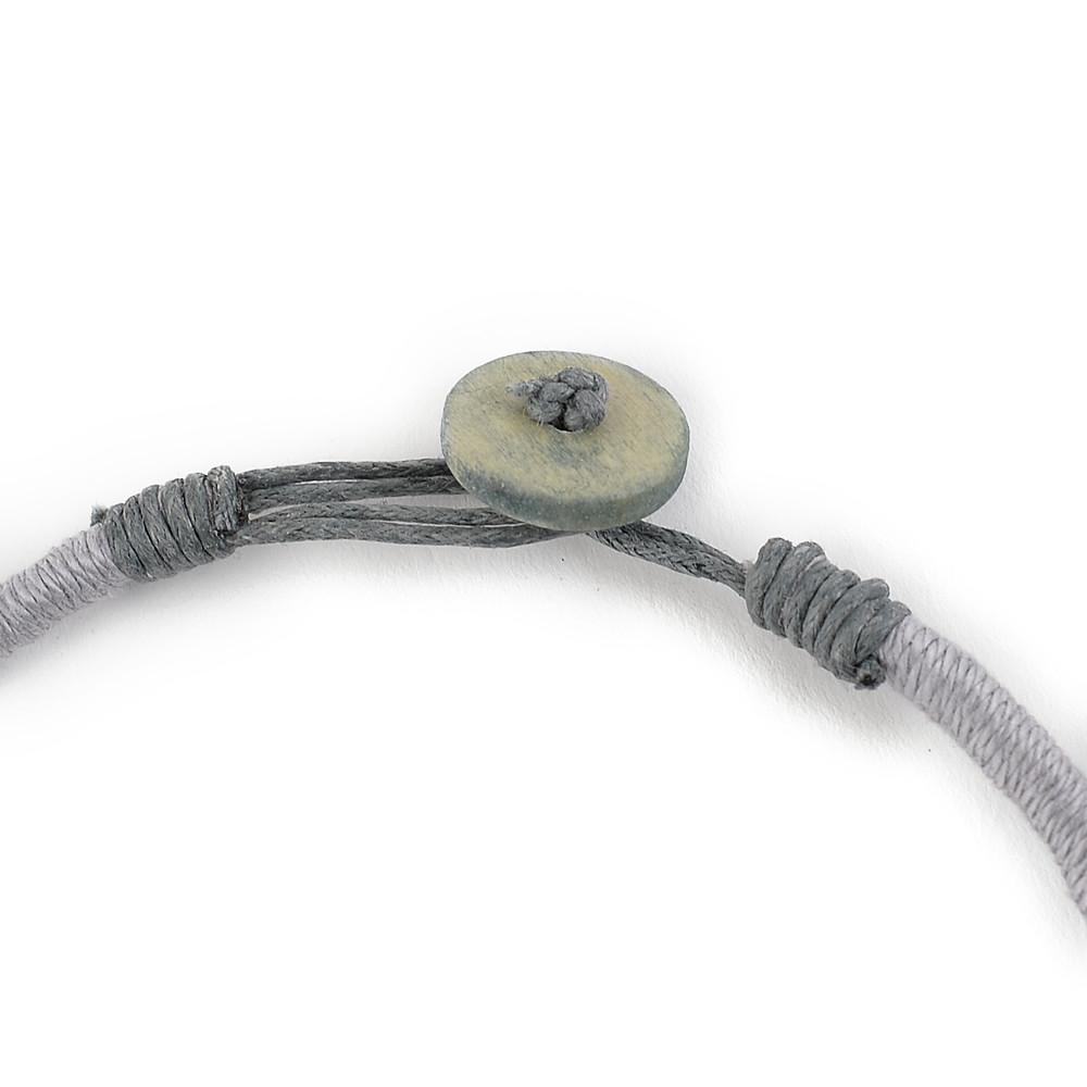 天然素材 グリーン箔とウッドのネックレス N