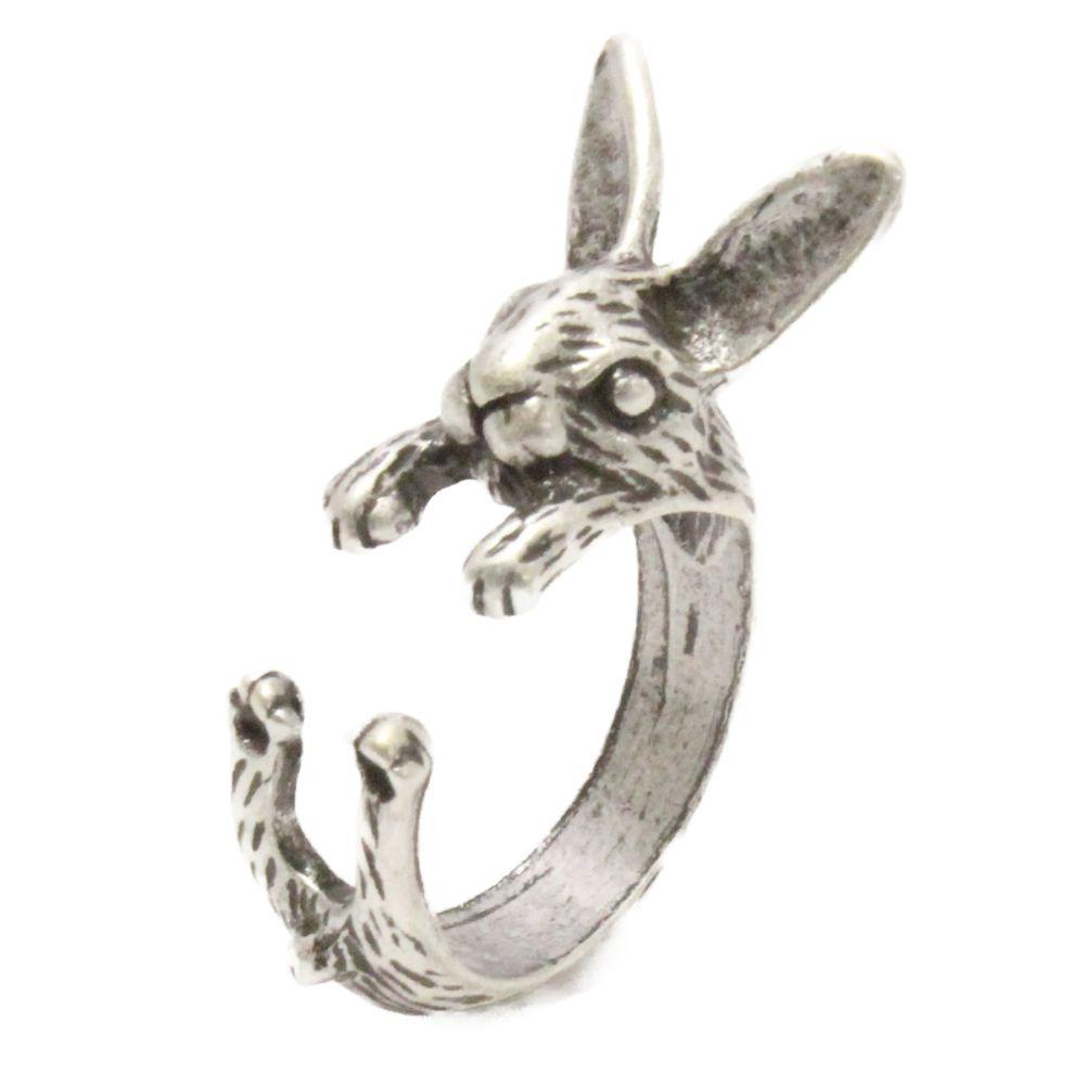 アンティークカラーのうさぎモチーフリング N 指輪