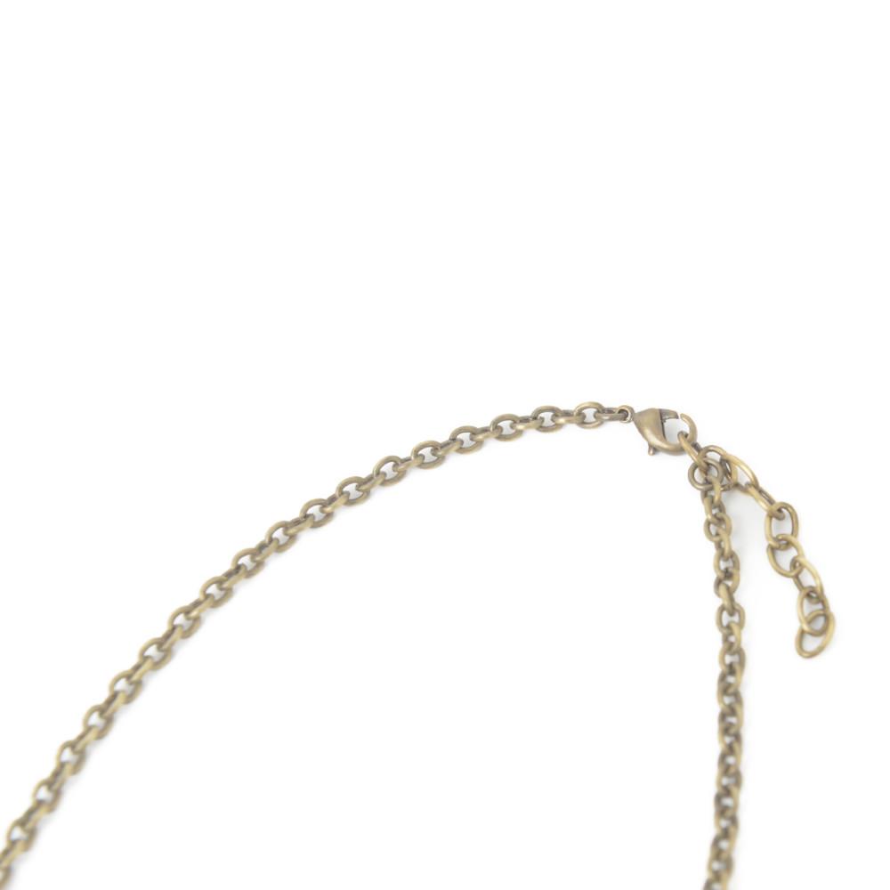 ネックレス ペンダントネックレス スペイン製 レディース フラワー 花 グレー 古美色 クララビジュ I