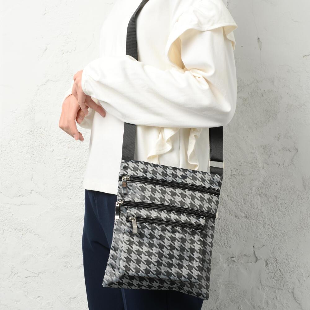 ショルダーバッグ バッグ ミニバッグ ポシェット 鞄 かばん バッグ ジャガード 千鳥柄 旅行 Z