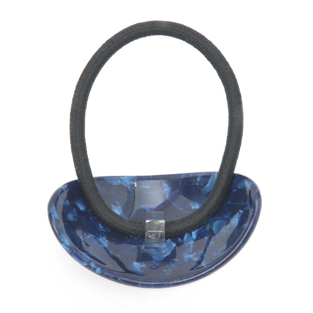 ヘアゴム ヘアアクセサリー ヘアアクセ まとめ髪 ヘアアレンジ 青 ブルー 箔 シンプル H