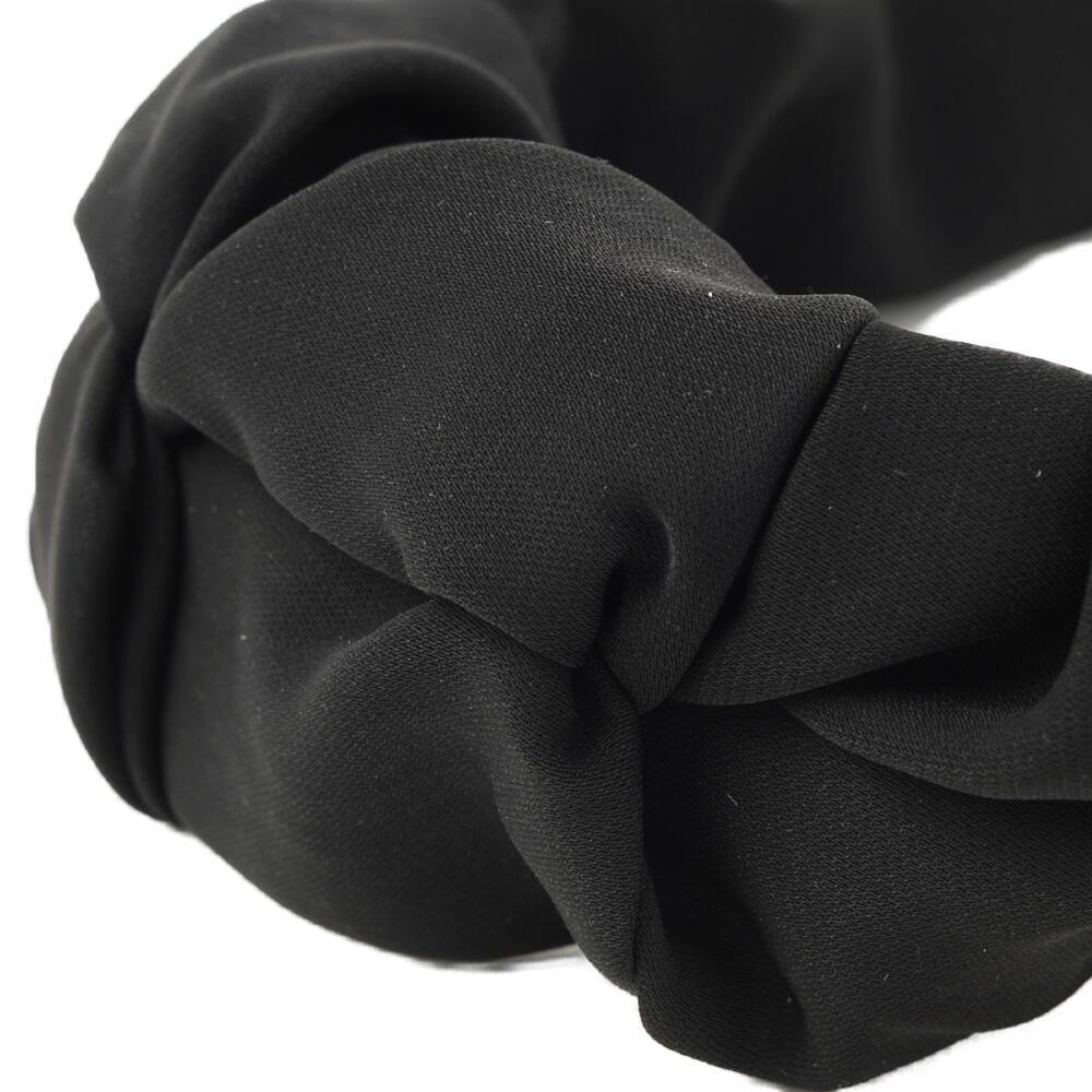 カチューシャ ヘアアクセサリー ヘアアクセ レディース 幅広 黒 ブラック トレンド オシャレ H