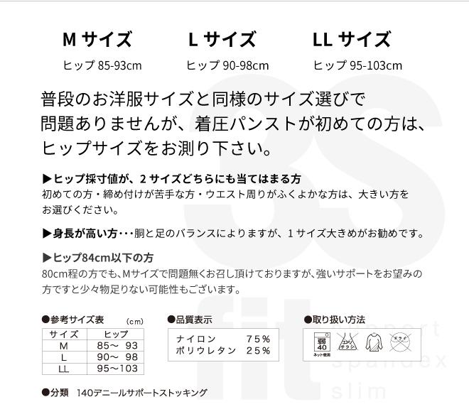 【2021年8月31日まで●まとめ買い割引●】3Sfit<ドイツ・メルツ社>日本製で高品質・140デニール・段階的な着圧の弾圧ストッキング