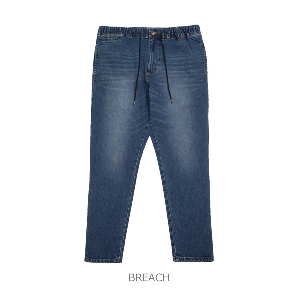 STRETCH TAPERED DENIM PANTS -III-