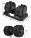 片手で簡単に16段階重量変更 アジャスタブル ダンベル 可変式 ダイヤル式 20kg 2個セット BELLTORA20 ベルトラ 本格トレーニング 【1年保証】