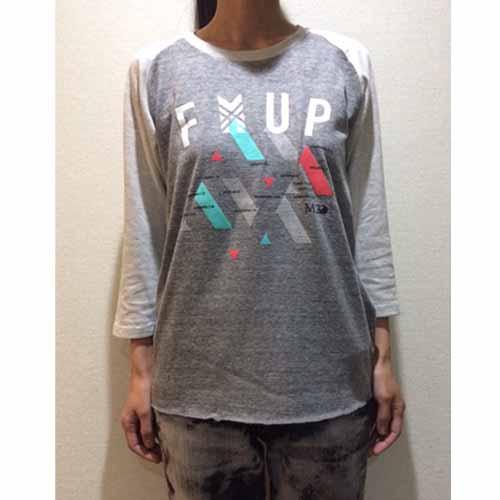 FMUP 七分袖ラグランTシャツ