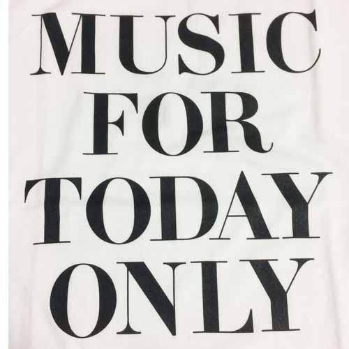 今日だけの音楽 Tシャツ ホワイト