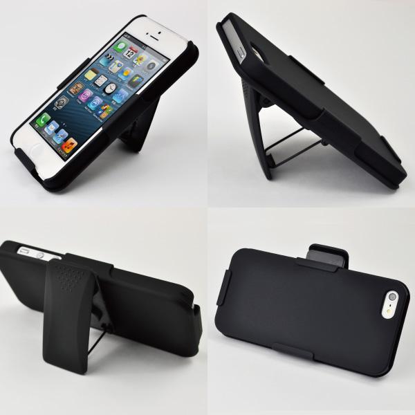 iPhone5/iPhone5s対応 クリッピングスタンド スマホケース 【ブラック】