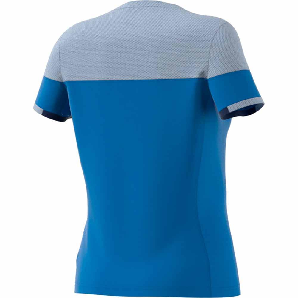 カラーブロック シャツ レディース ブルー