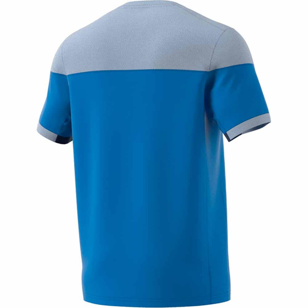 カラーブロック シャツ ブルー