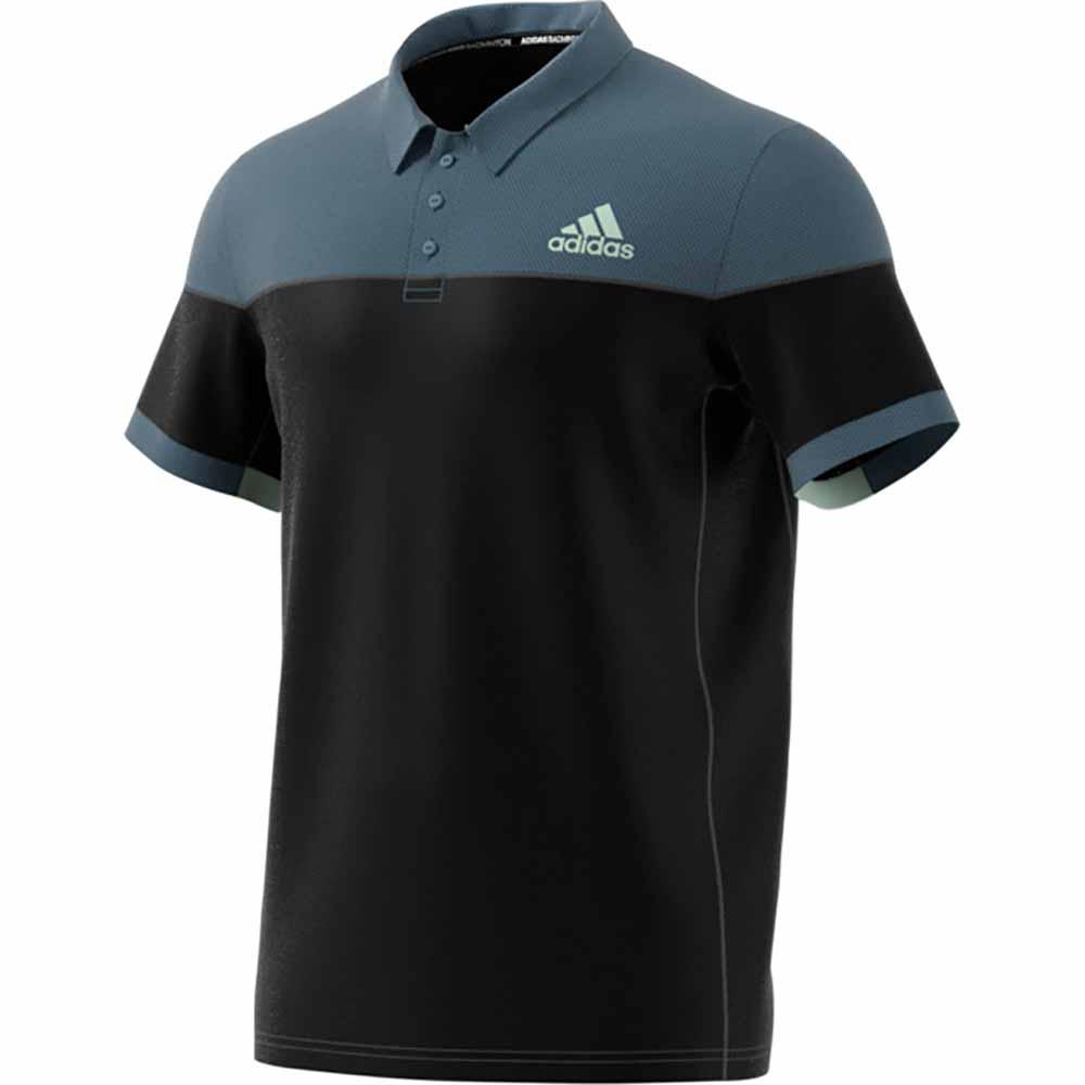 カラーブロック ポロシャツ ブラック
