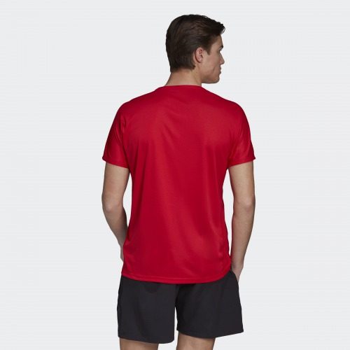 グラフィックシャツ1 レッド アディダス バドミントン