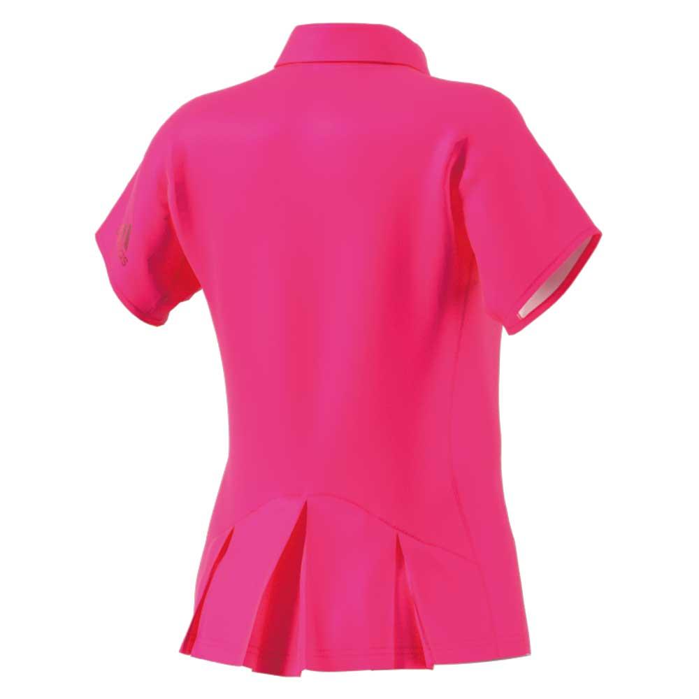 【ウイメンズ】メッシュ ポロシャツ ショックピンク アディダス バドミントン