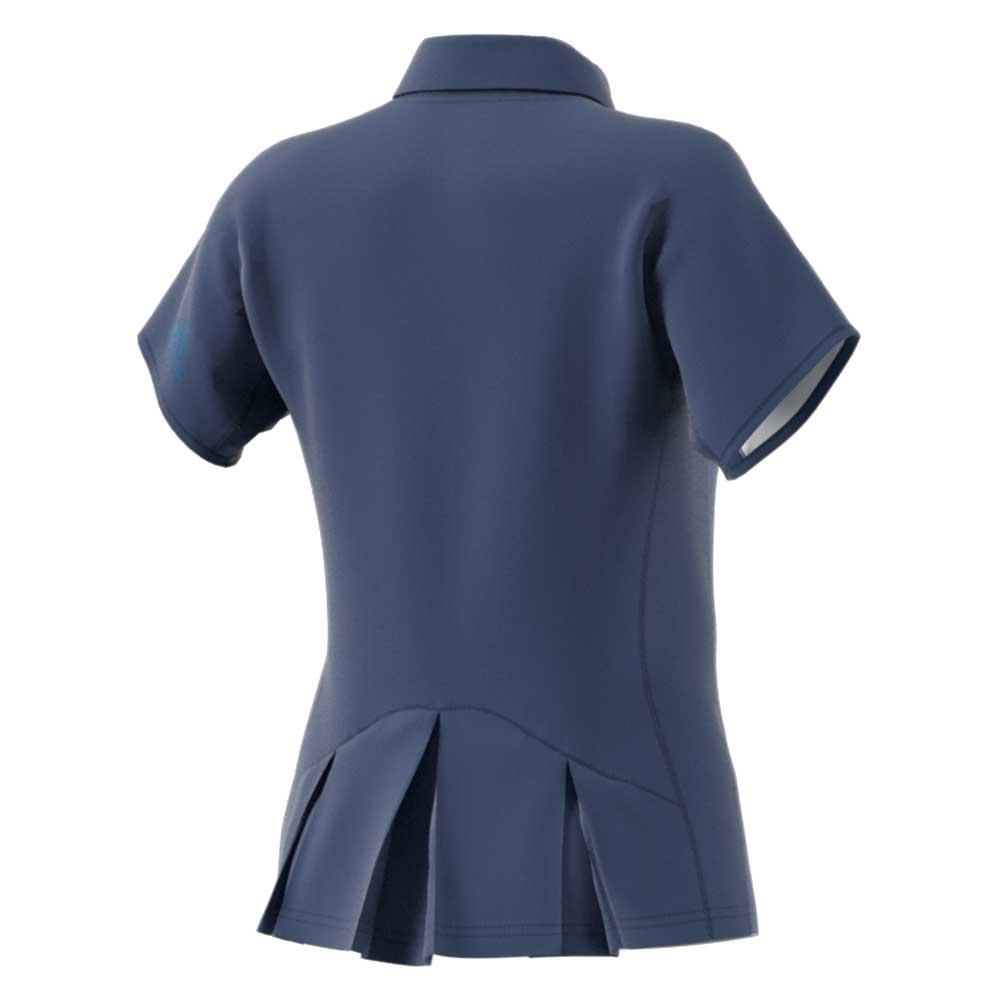 【ウイメンズ】メッシュ ポロシャツ インディゴブルー アディダス バドミントン