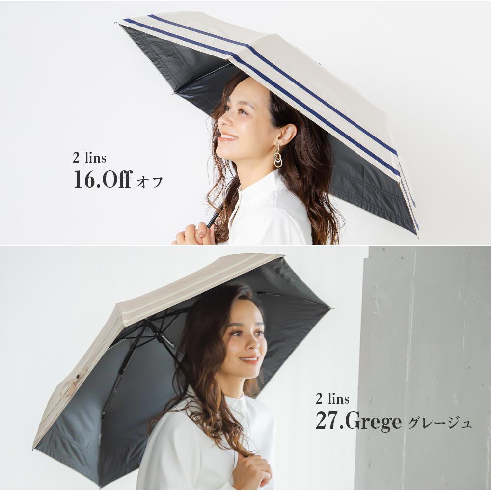 100%完全遮光 日傘/雨傘/晴雨兼用傘 超撥水 ブラックコーティング 軽量コンパクト 折りたたみ傘 makez.(マケズ)