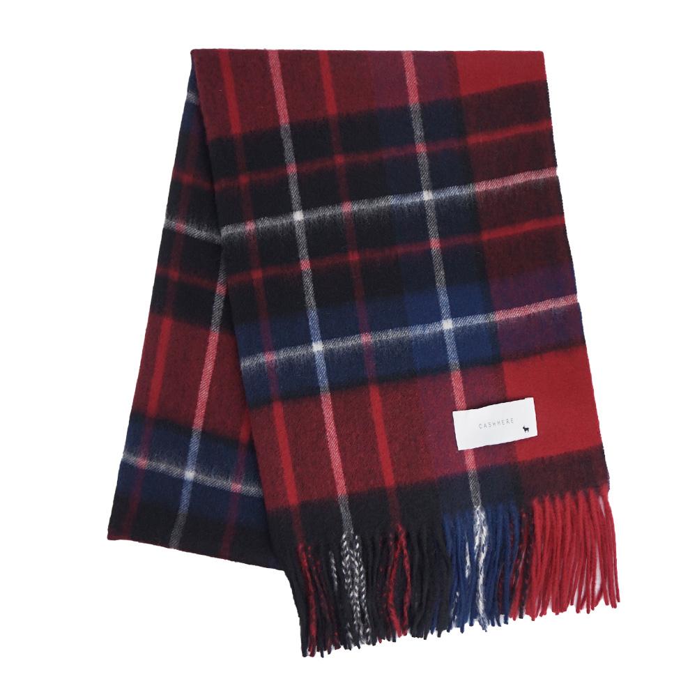 カシミヤストール[チェック柄] 60cm×200cm