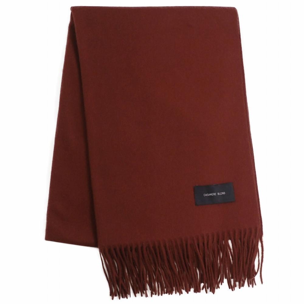 カシミヤブレンドシルケットウールストール [カシミヤ混/マーセライズドウール] 60cm×200cm