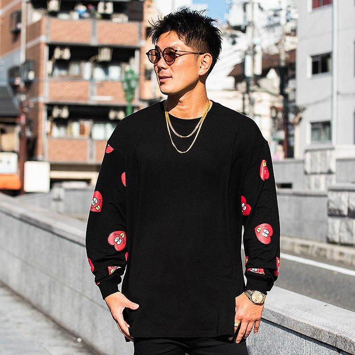 Heart logo total pattern Sweatshirt