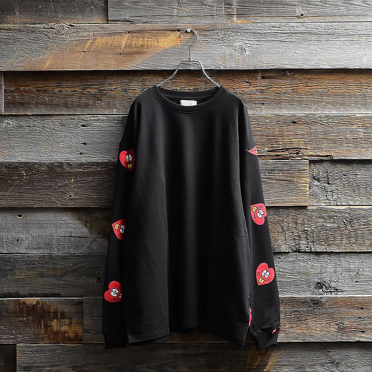 Heart logo total pattern Sweatshirt