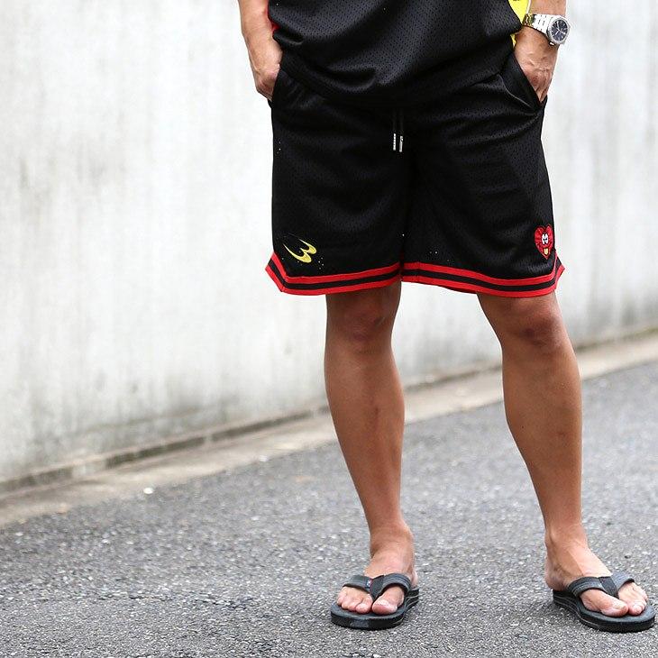MADBRO×BODYMAKER Mesh Shorts