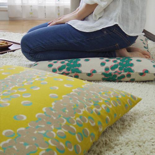 fabrizm 日本製 銘仙判 座布団カバー 55×59cm タマリ