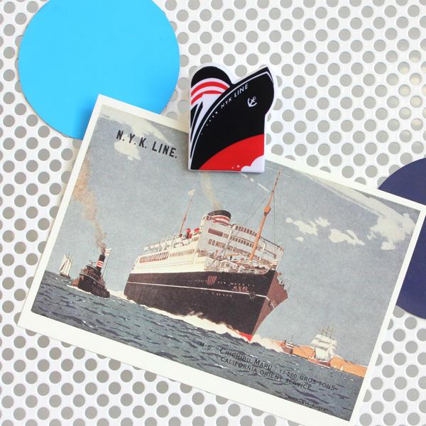 【日本郵船】船型マグネットクリップ