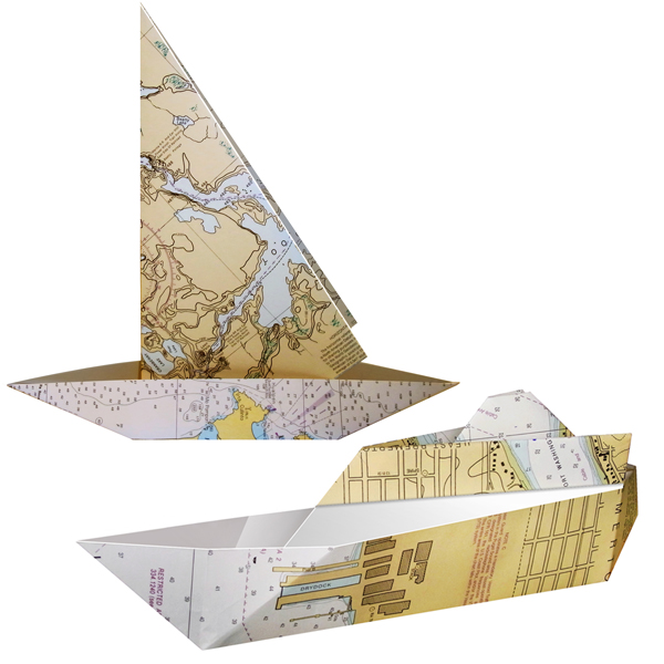 海図 折り紙