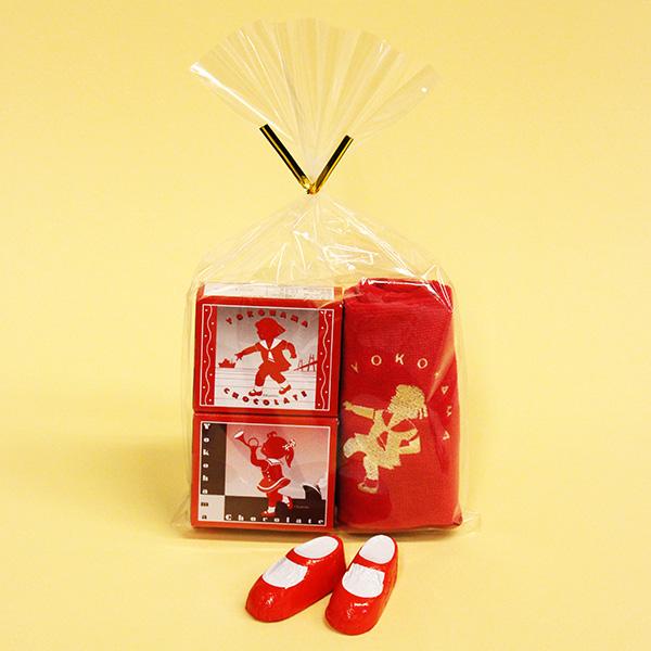 赤い靴チョコレート&ミニタオルセット
