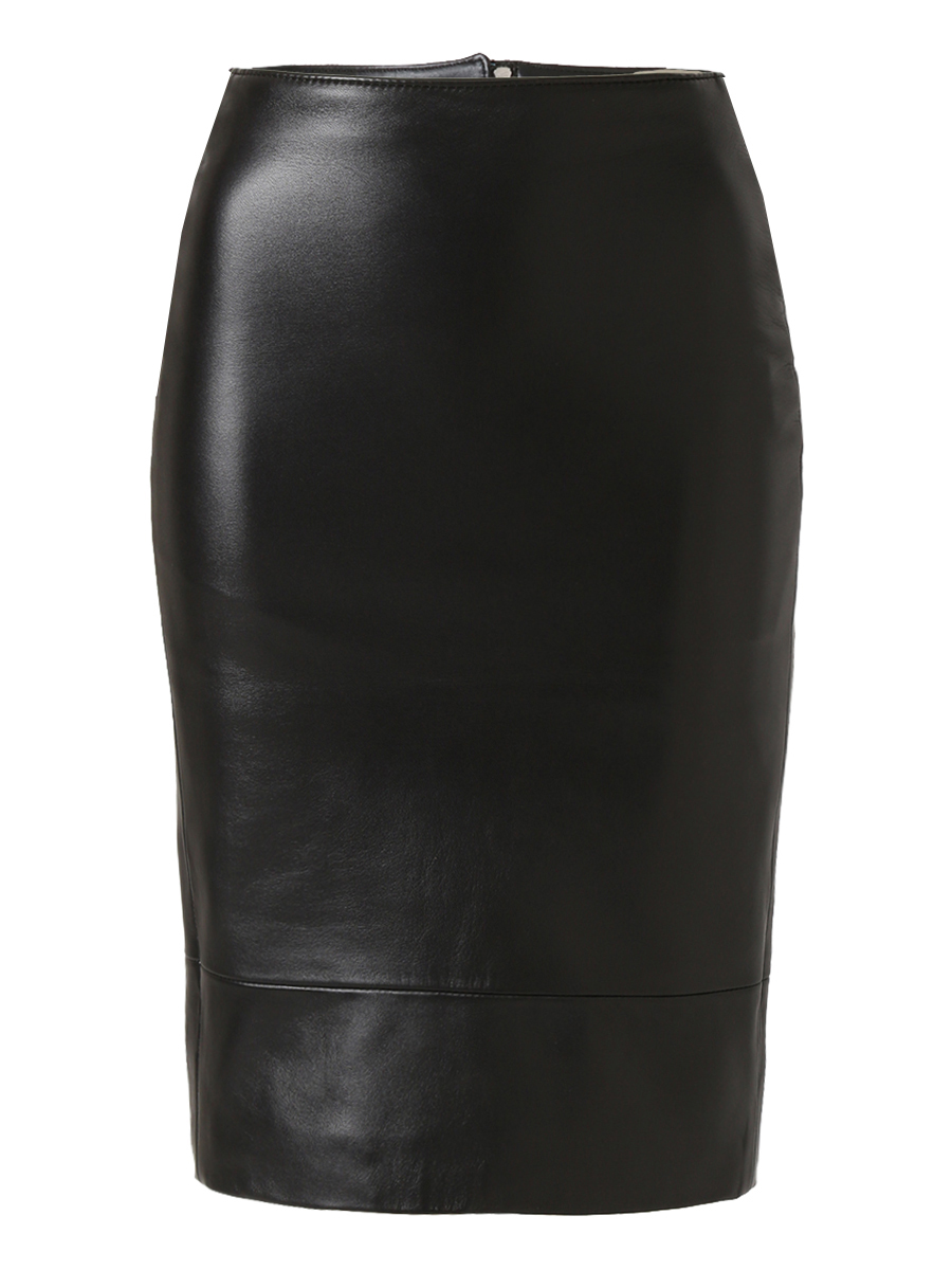 SOFIE LEATHER TIGHT SKIRT