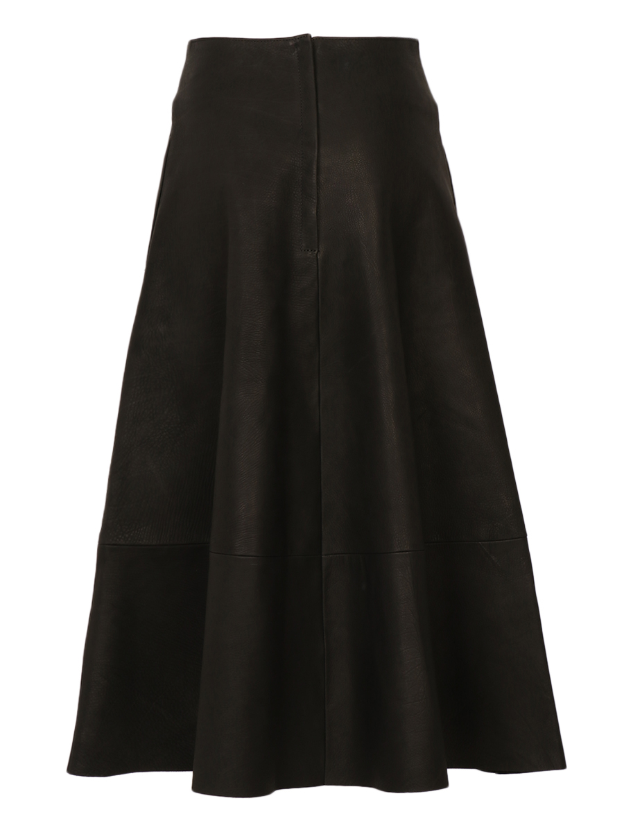 LEATHER FLARE SKIRT