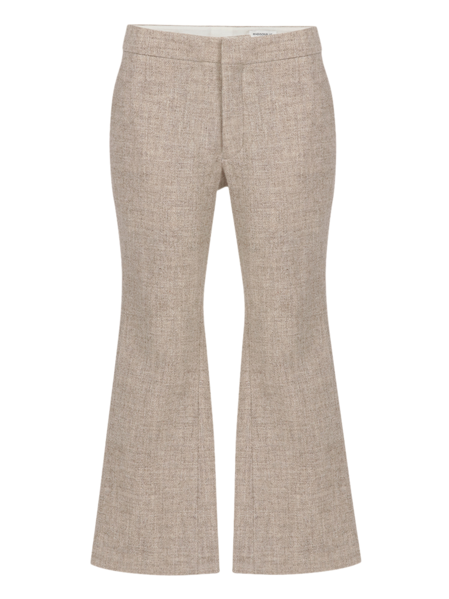 CROPPED FLARE PANTS W/TWILL