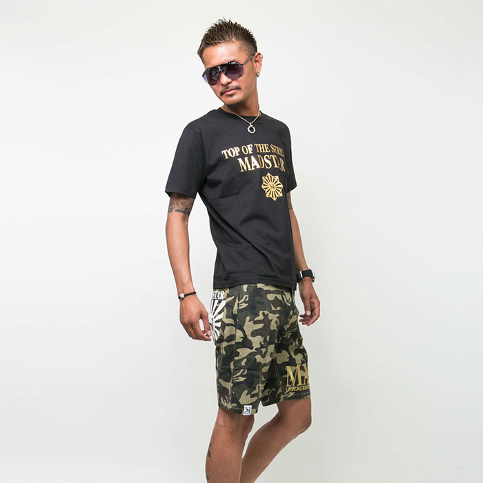 MS15NA43 MAD迷彩ハーフパンツ