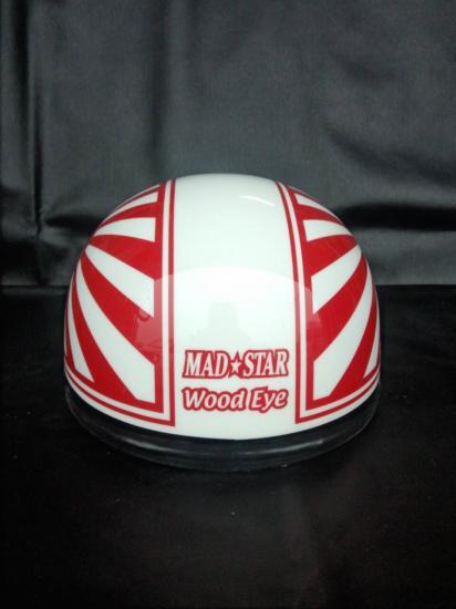 A-035◆日章コルクハン帽◆白×赤