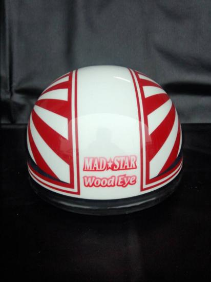 A-037◆富士日章コルクハン帽◆白×赤