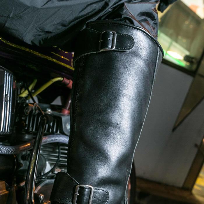 S-831 当時物コミネタイプ リアルレザー旧車会ブーツ