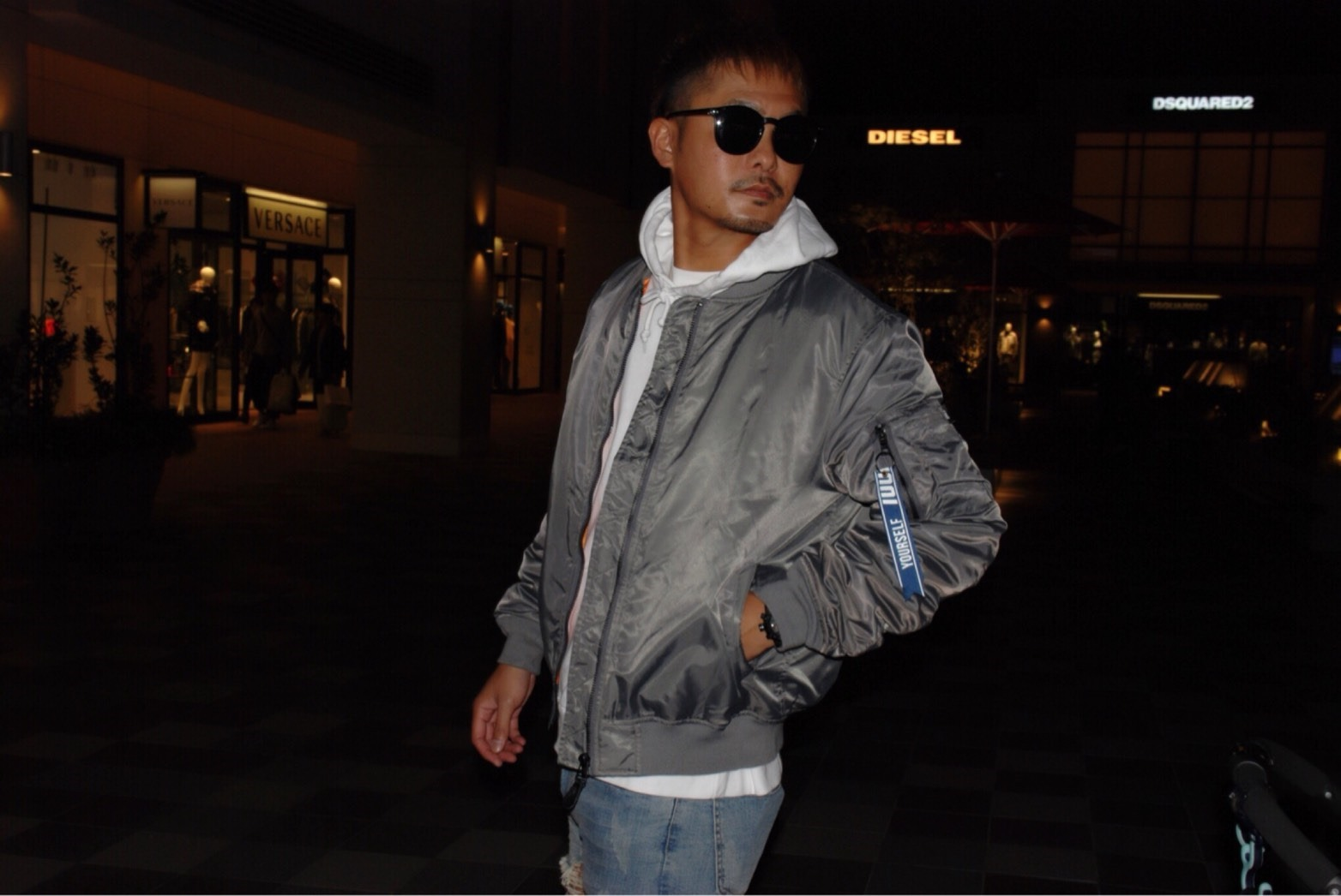 【新作】MS17KS002 BOMBER NYLON MA-1 JACKET
