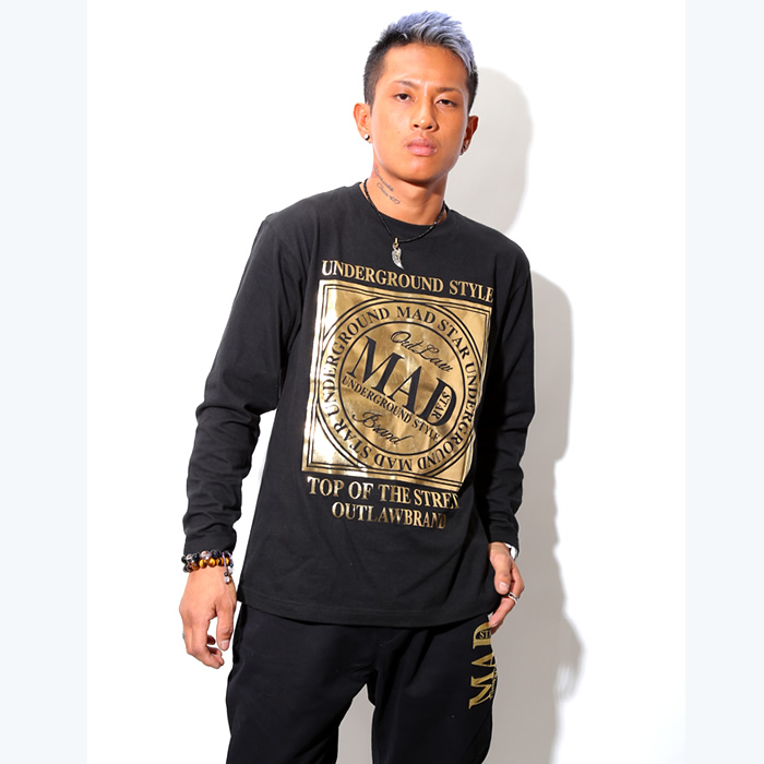 MS15TO31 Gold Box Logo Long Sleeve T-shirts