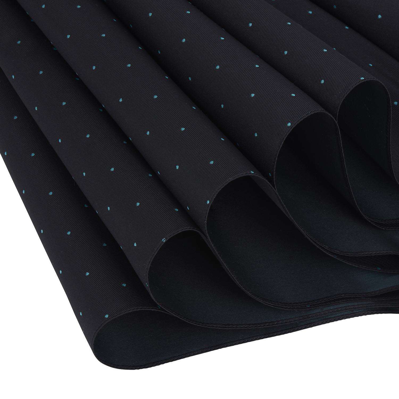【紳士】ピンドット-折りたたみ-ブラック